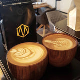 2pcs/Set 250ML Wooden Espresso Latte Art Coffee Cup