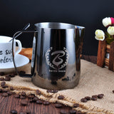 BaristaSpace 1.0 Coffee Stainless Steel Polished Titanium Steaming Milk Jug Barista Pitcher Tool For Latte Art