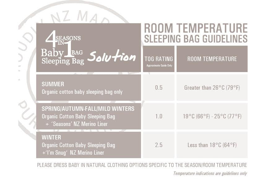 Lola & Ben Organic Cotton Baby Sleeping Bag