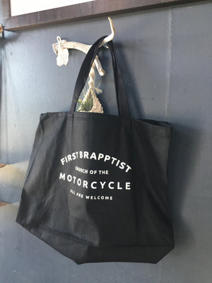 First Brapptists Church of the Motorcycle Tote Bag