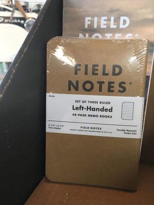 Field Notes - Left Handed 3 Pack