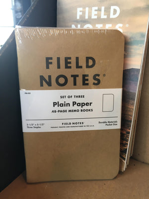 Field Notes - Plain Paper 3 Pack