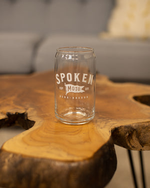 Spoken Can Glass Pint
