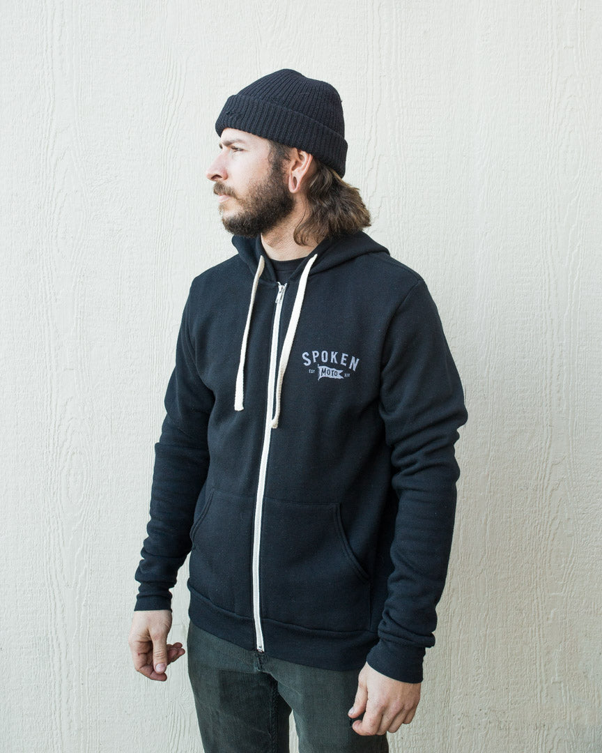 Classic Zip Up | Black Tri-Blend