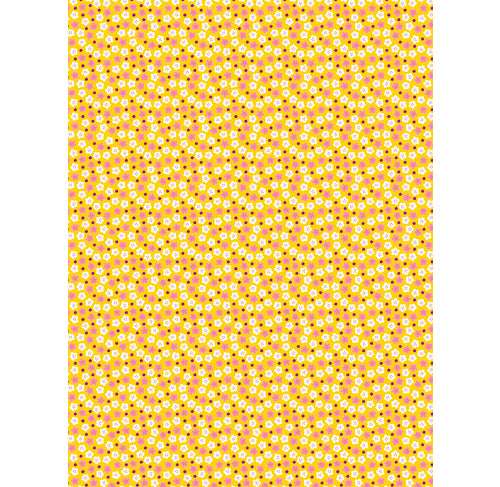 DECOPATCH Paper:Yellow & Orange 709 White Flowers - Me Books Asia Store