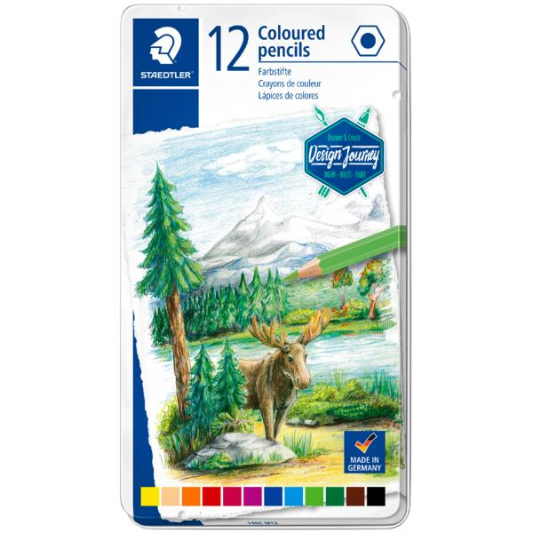 Staedtler Coloured Pencils-in Metal Tin 12 colours - Me Books Store