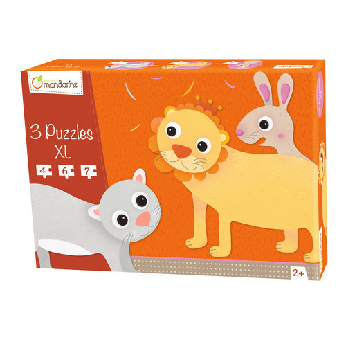 Avenue Mandarine 3 XL Puzzles - Hairy Animals - Me Books Asia Store