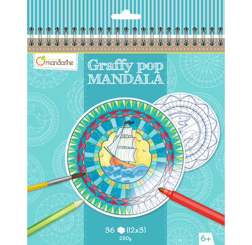 Avenue Mandarine Graffy Pop Mandala - Boy - Me Books Asia Store