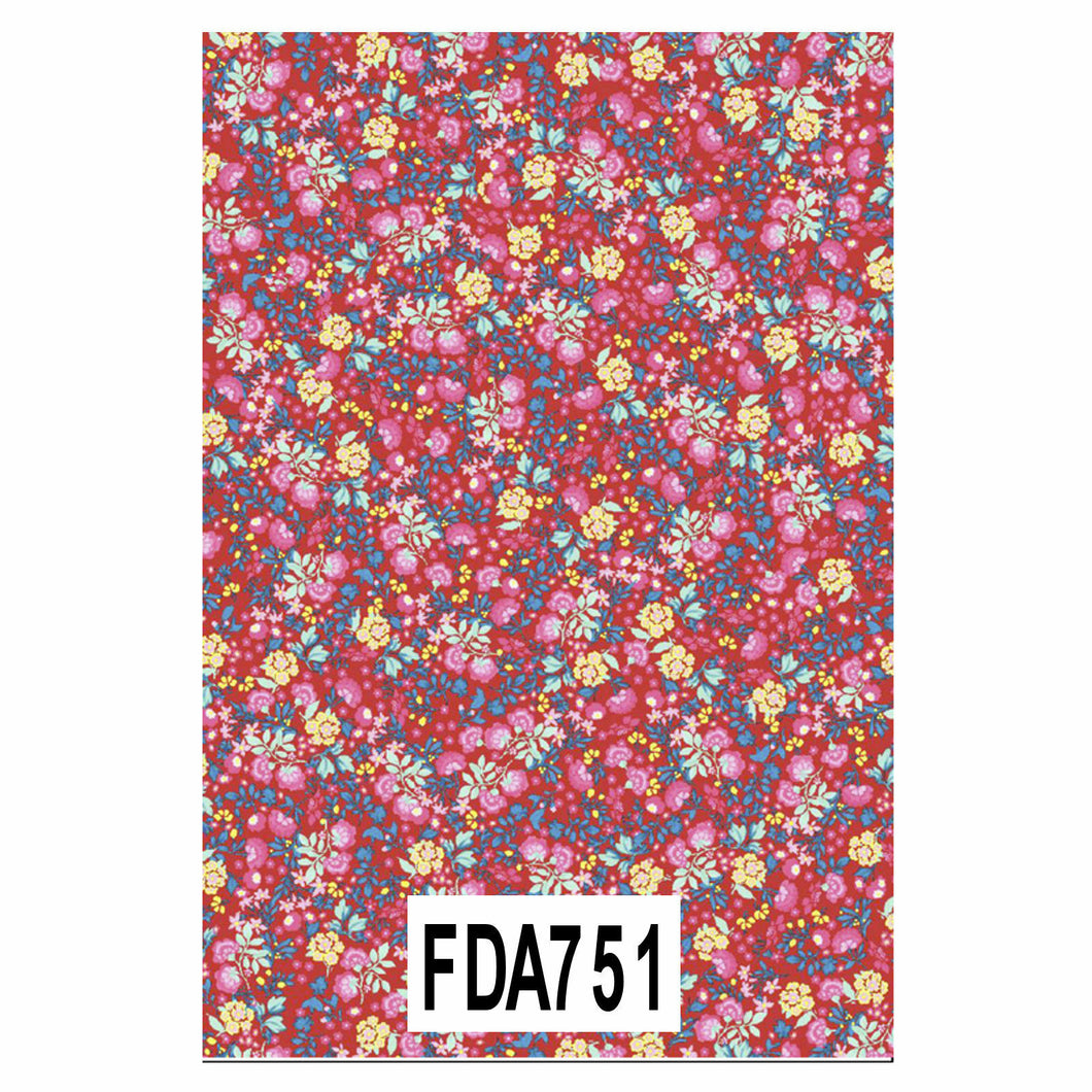 DECOPATCH Paper:Red 751 Flower Patterns - Me Books Asia Store