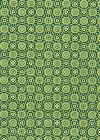 DECOPATCH Paper:Green 643 Leaf Mosaic - Me Books Asia Store