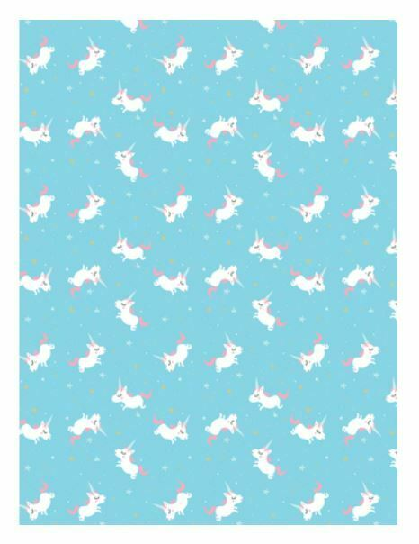 DECOPATCH Paper:Blue 727 Unicorns-White - Me Books Asia Store