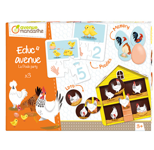 Avenue Mandarine Educ Avenue La Poule Party - Me Books Asia Store