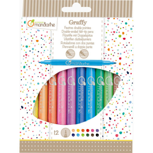 Avenue Mandarine 12 Double-Ended Felt-Tip Pens - Me Books Asia Store