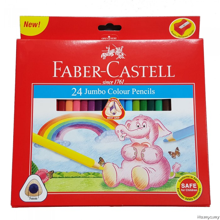 Faber Castell Jumbo Colour Pencils 24 - Me Books Store
