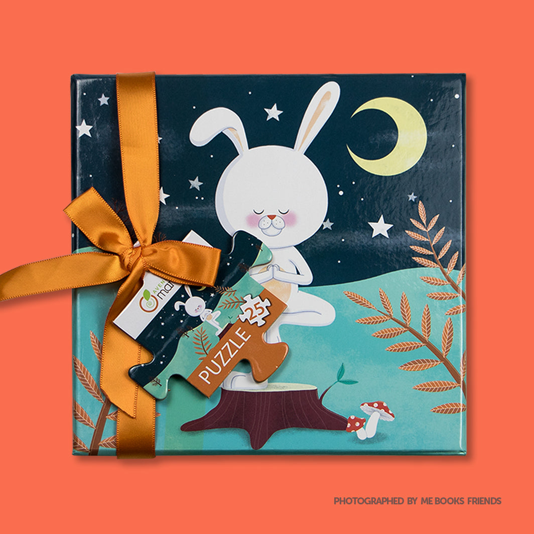 Avenue Mandarine Yoga Puzzle Rabbit - Me Books Store