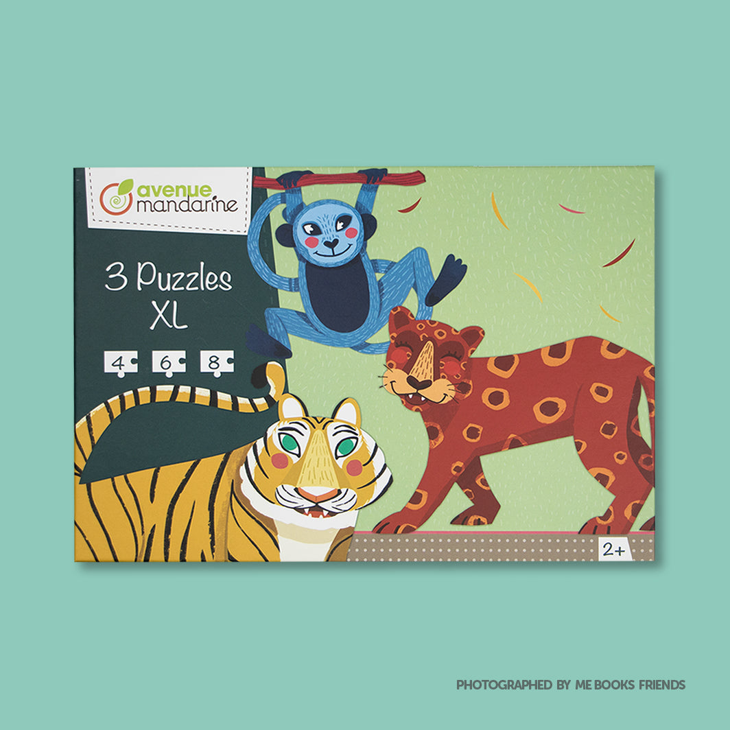 Avenue Mandarine 3 XL Puzzles-Jungle Hairy Animals - Me Books Store