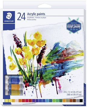 Staedtler Acrylic Paints 24 colours - Me Books Store