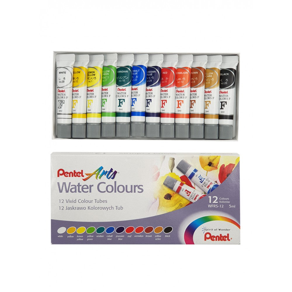 Pentel Arts Watercolour 5ml-12 Cols - Me Books Store