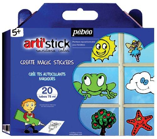 Pebeo arti'stick Super Kit Windowcolour 20x75ml++ - Me Books Store