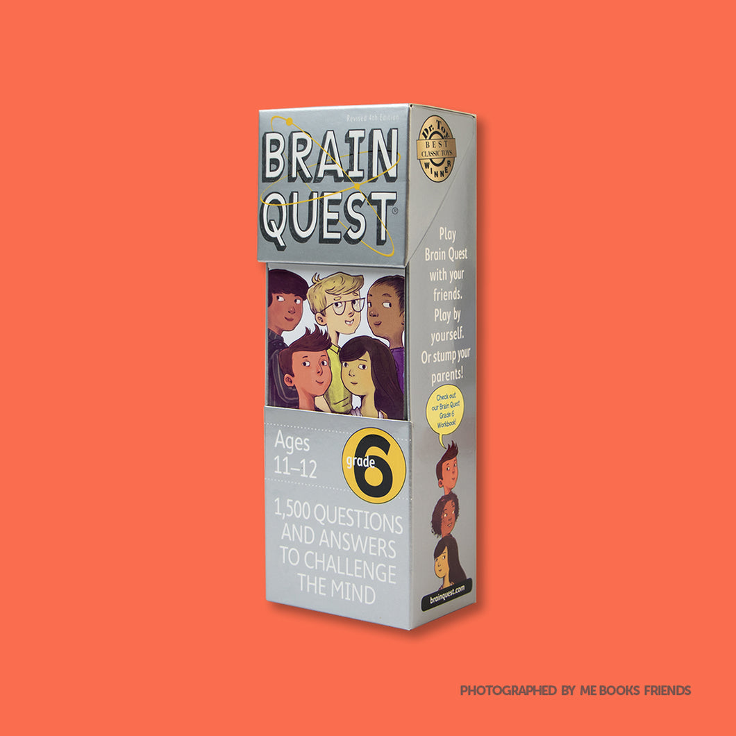 Brain Quest: Grade 6: 1,500 Questions and Answers to Challenge the Mind - Me Books Store