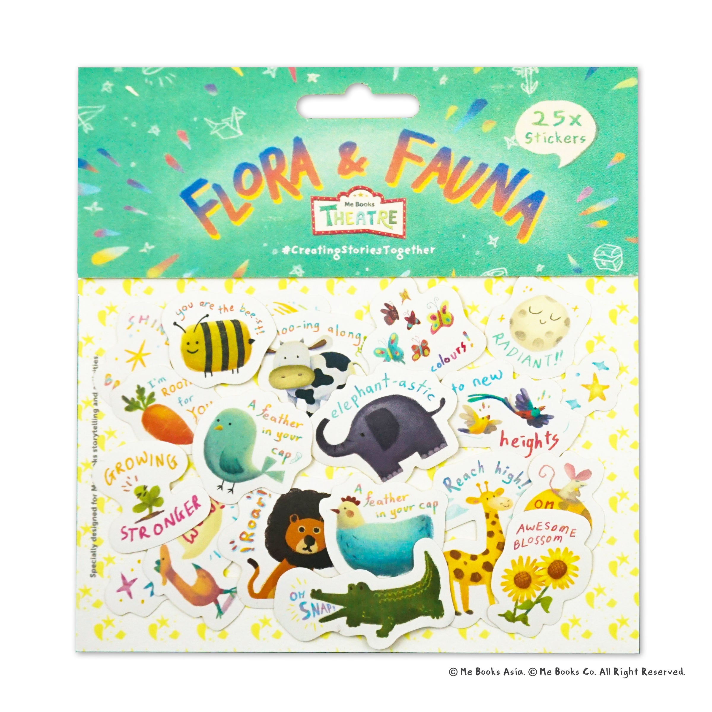 Me Books Theatre Stickers: Floral & Fauna - Me Books Asia Store