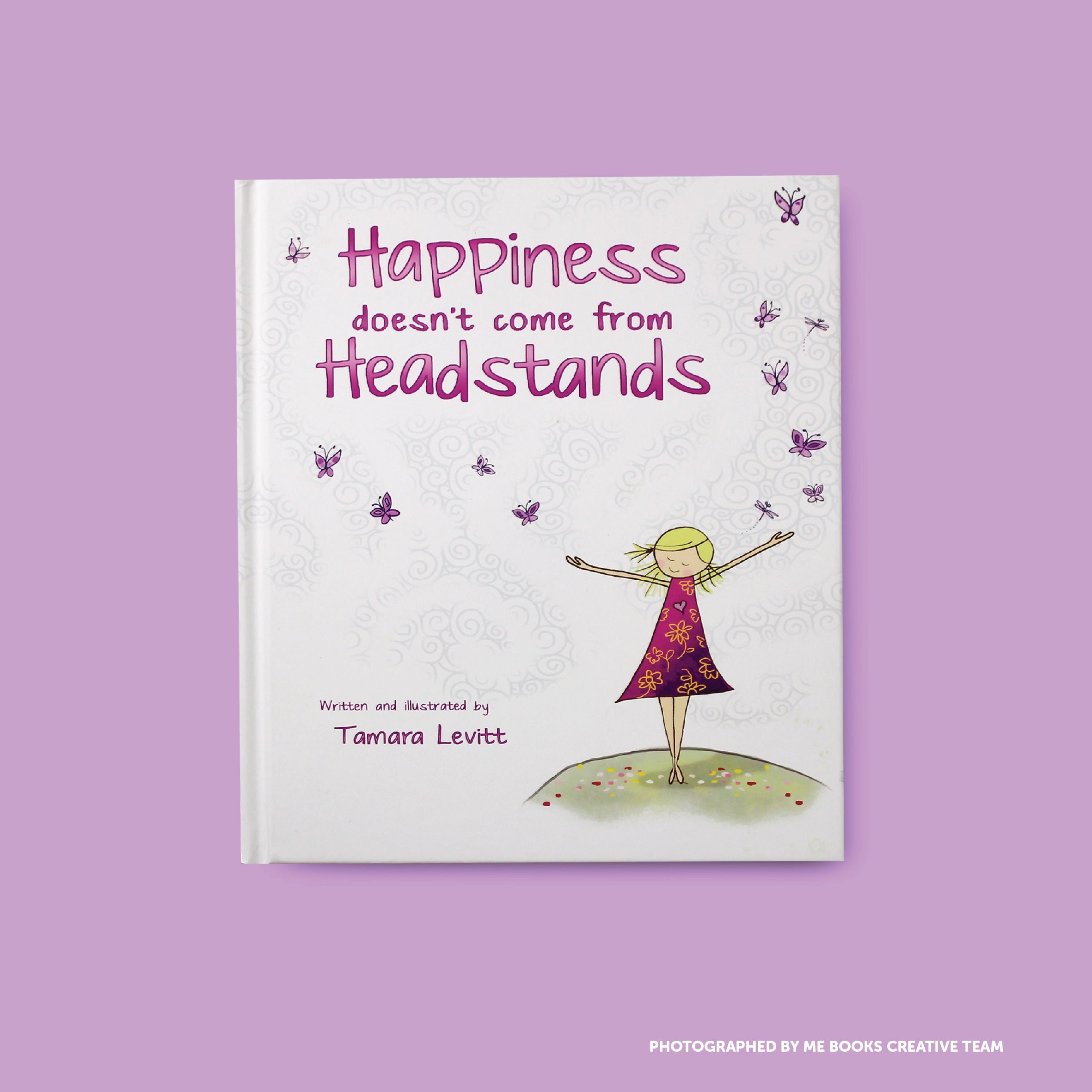 Happiness Doesn't Come from Headstands Front Cover | Me Books Store
