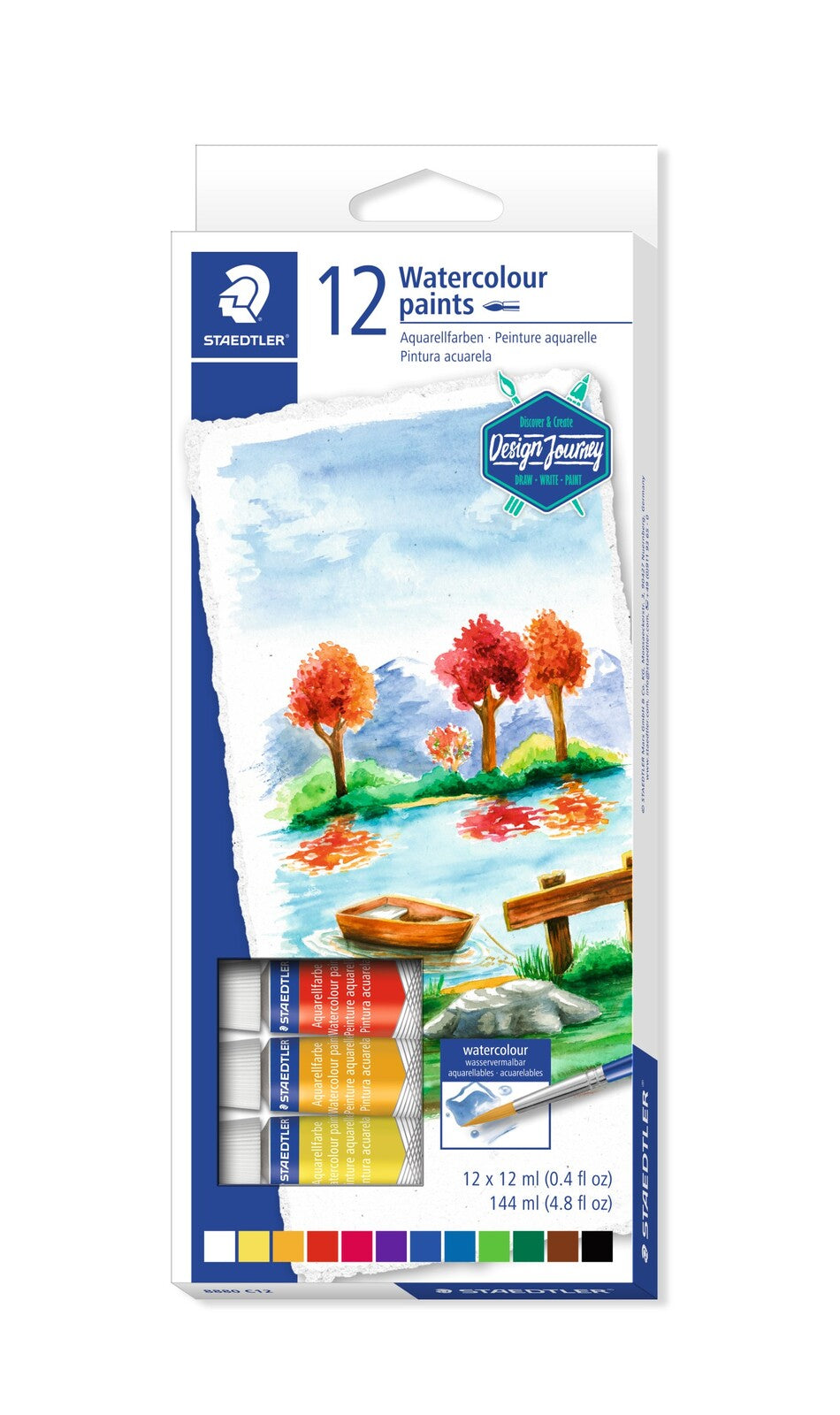 Staedtler Watercolour Paints 12 colours - Me Books Store
