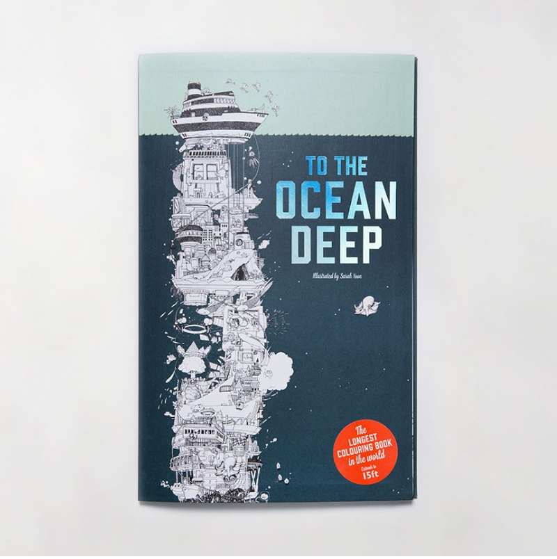 To The Ocean Deep: The Longest Colouring Book in the World - Me Books Asia Store