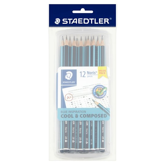 Staedtler Noris 2B Triangular 129 12s Box-Blue  - Me Books Store