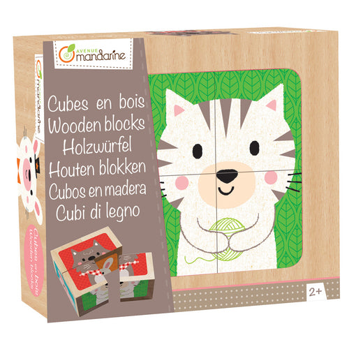 Avenue Mandarine Wooden Blocks Cuddly Toy Animals - Me Books Asia Store