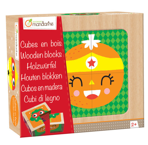 Avenue Mandarine Wooden Blocks Super Heroes Fruits And Vegetables - Me Books Asia Store