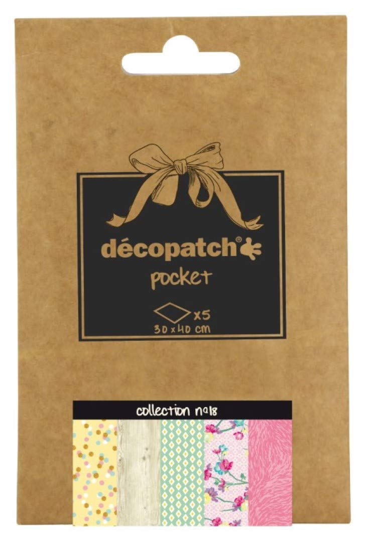 Decopatch Papers: Deco Pocket 5s 30X40CM No.18 - Me Books Asia Store