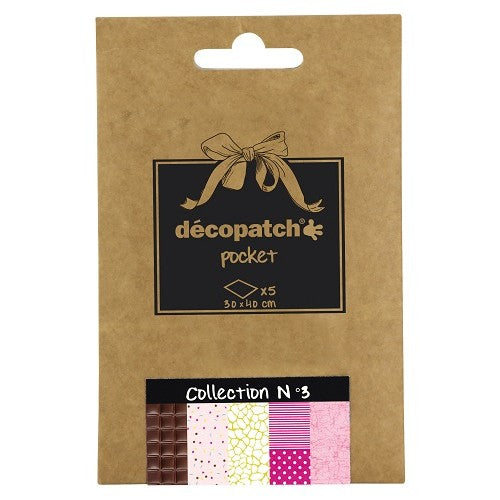 Decopatch Papers: Deco Pocket 5s 30X40CM No.3 - Me Books Asia Store