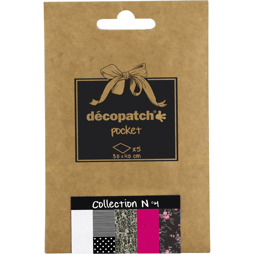 Decopatch Papers: Deco Pocket 5s 30X40CM No.4 - Me Books Asia Store