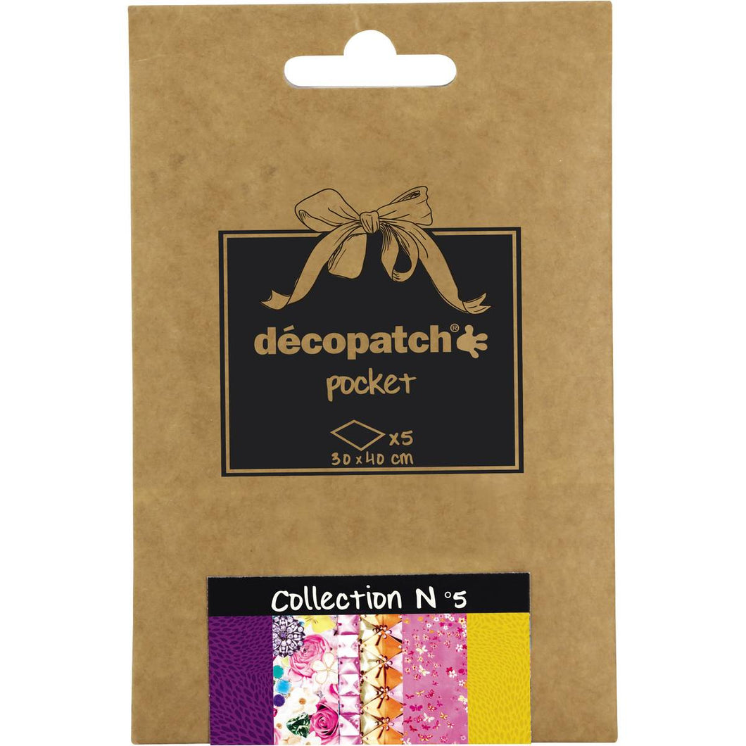 Decopatch Papers: Deco Pocket 5s 30X40CM No.5 - Me Books Asia Store