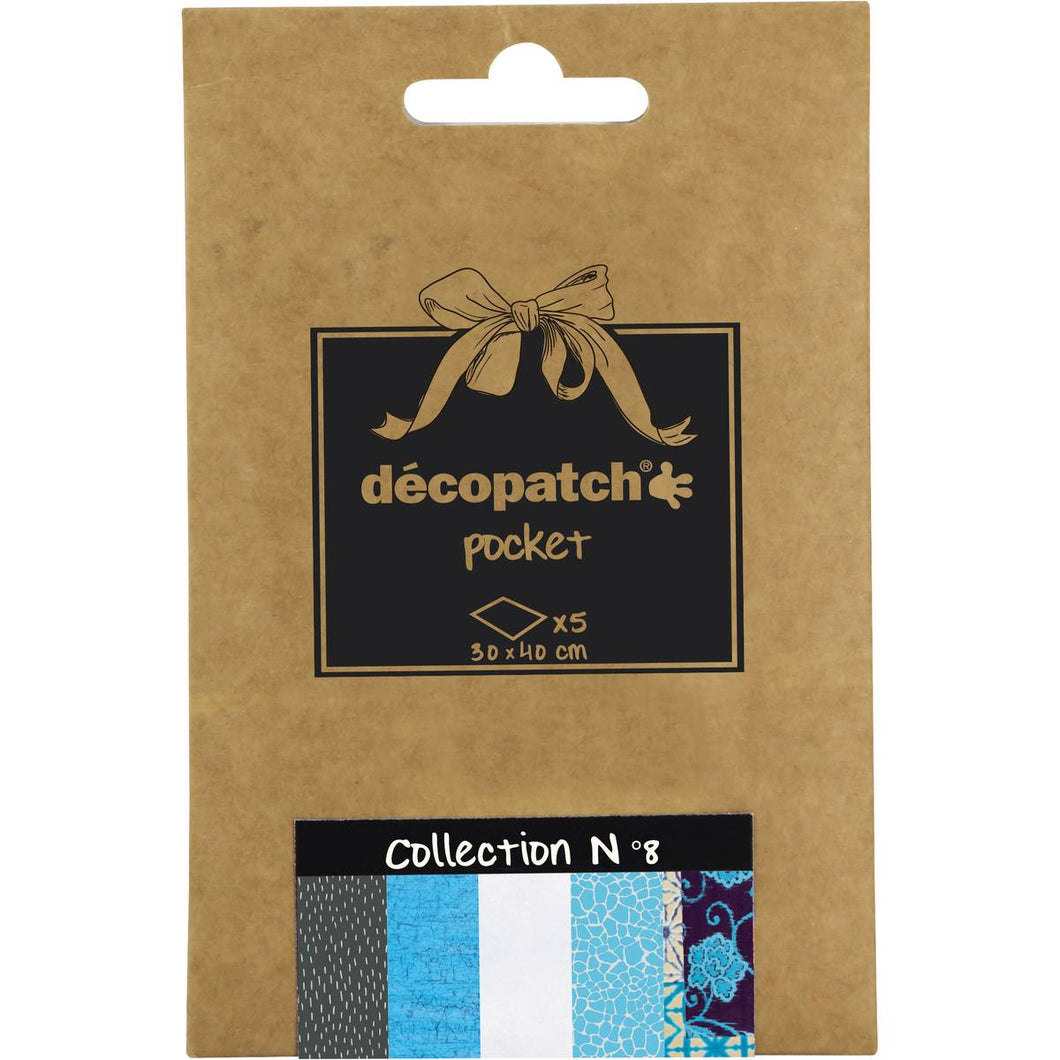 Decopatch Papers: Deco Pocket 5s 30X40CM No.8 - Me Books Asia Store