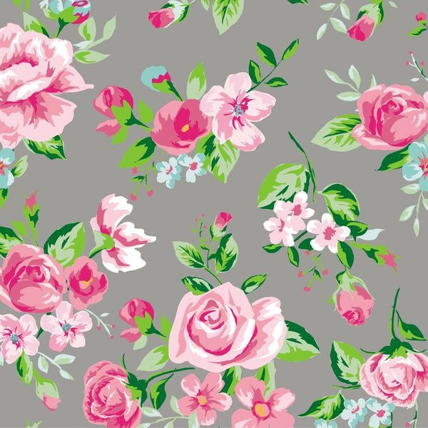 Decopatch Paper:Black & White 716 Giant Roses-Pink - Me Books Asia Store
