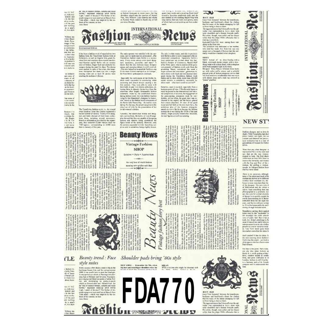 Decopatch Paper:Black & White 770 Newspaper - Me Books Asia Store