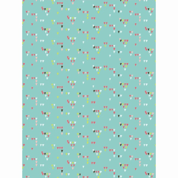 Decopatch Paper:Blue 714 Patterned Triangles - Me Books Asia Store