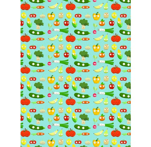 Decopatch Paper:Blue 730 Fruits & Vegetables - Me Books Asia Store