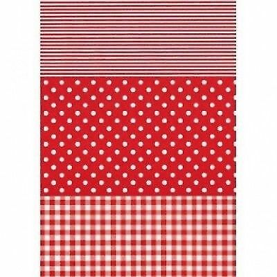 Decopatch Paper:Gingham/Dots/Stripes 484-Red - Me Books Asia Store