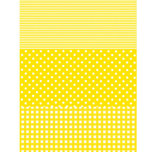 Decopatch Paper:Gingham/Dots/Stripes 545-Yellow - Me Books Asia Store