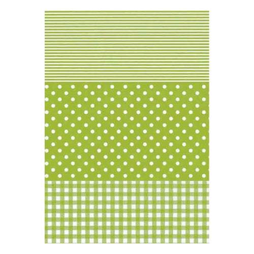 Decopatch Paper:Gingham/Dots/Stripes 548-Green - Me Books Asia Store