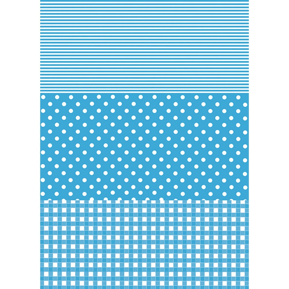 Decopatch Paper:Gingham/Dots/Stripes 549-Blue - Me Books Asia Store