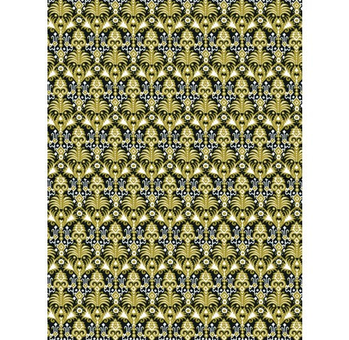 Decopatch Paper:Gold 773 Palm Symetry-Black Gold - Me Books Asia Store