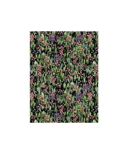 Decopatch Paper:Green 741 Flower Meadow-Black - Me Books Asia Store