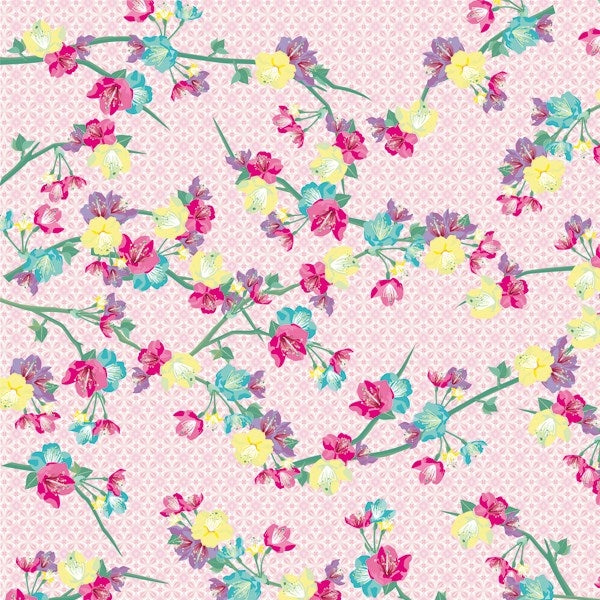 Decopatch Paper:Pink 747 Flowers - Me Books Asia Store