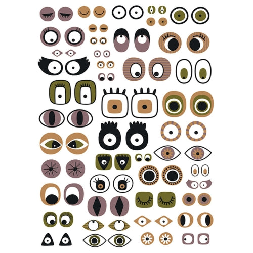 Decopatch Paper:Black & White 668 Eyes - Me Books Asia Store