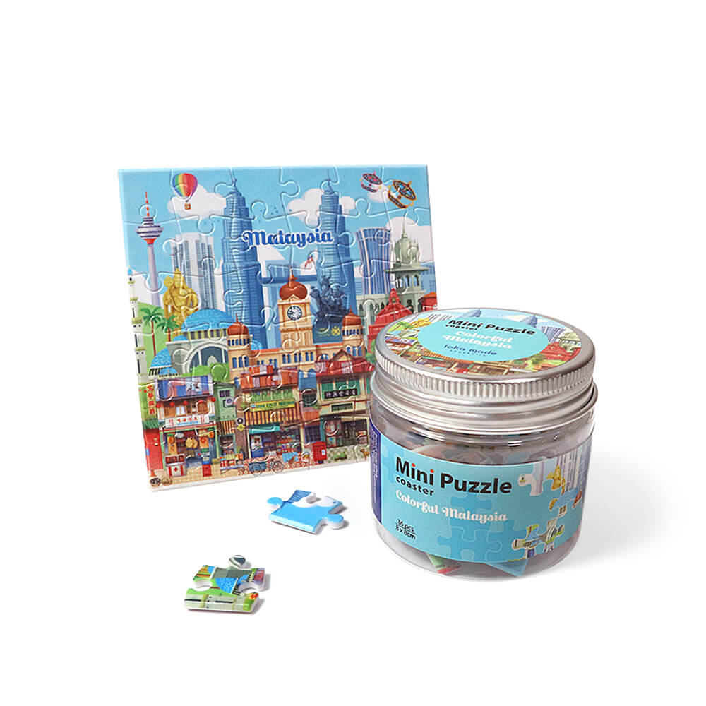 MP09 Mini Puzzle Colourful Malaysia - Me Books Asia Store