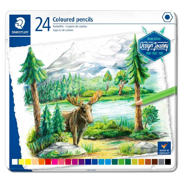 Staedtler Coloured Pencils-in Metal Tin 24 colours - Me Books Store